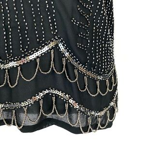 Endless Rose Tops - Endless Rose Sheer Beaded Camisole Top S